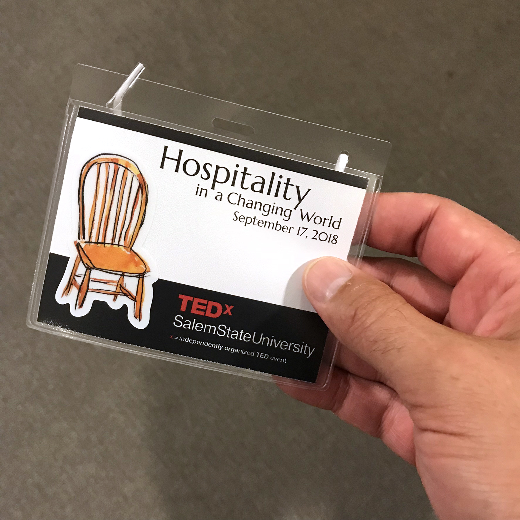 TEDx 2018 Name Badge